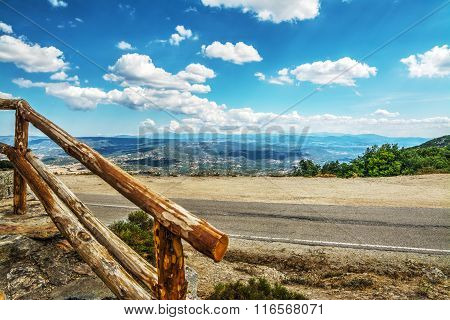 Wooden Banister In Monte Pisanu