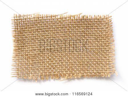 Brown Burlap Label