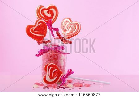 Valentines Day Candy In Jar