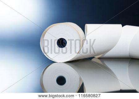 Paper Roll On Dark