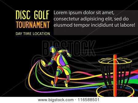 Design of disc golf or Frolf sports banner