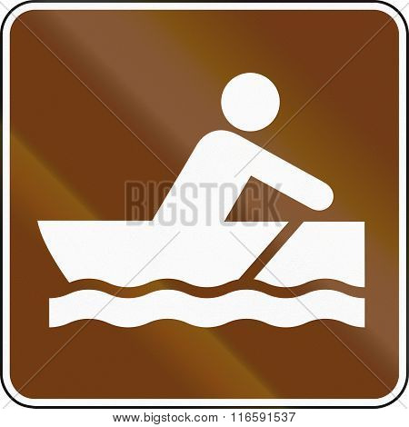 United States Mutcd Guide Road Sign - Rowboat