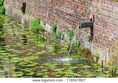 Castle Moat With Rainwater Inlet