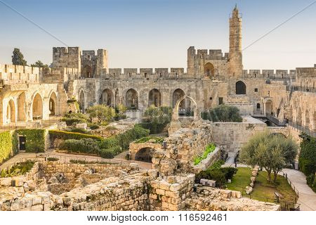 Jerusalem, Israel at the Tower of David.