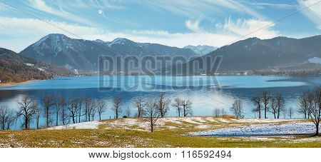 Pictorial Landscape Tegernsee In Early Springtime
