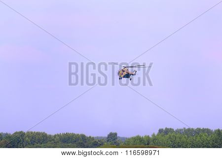 Perm, Russia - Jun 27, 2015: Flying Helicopter Mi-26 On Airshow Wings Of Parma