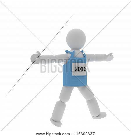 Javelin Thrower Puppet