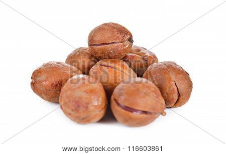 Pile Of Bambarra Groundnut On White Background