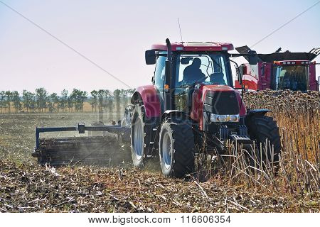 Agricultural Machinery Working In The Field