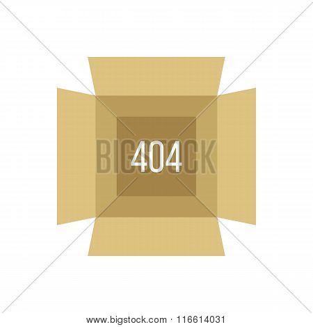 opened box with 404 error