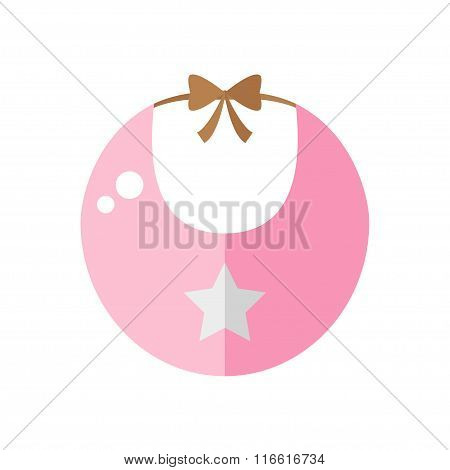 Bib isolated icon on white background.