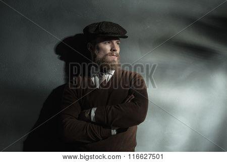 Trendy Confident Man In A Cloth Cap