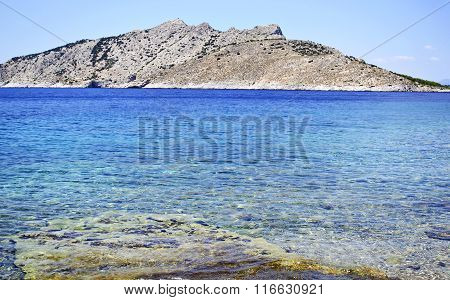 beach in Aegina island Greece