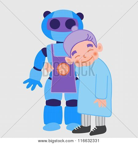 Old Lady With Robot