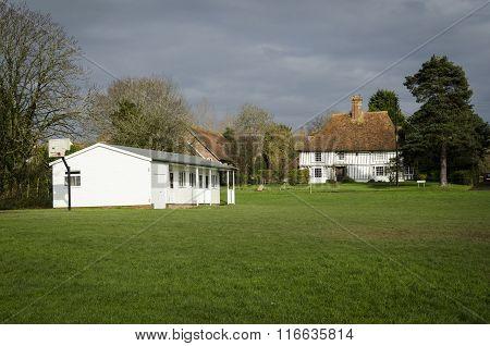 Cricket Pavillion On A Village Green