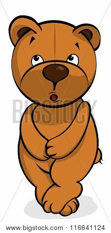 self-conscious plush bear