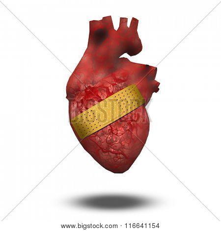 Heart with bandage