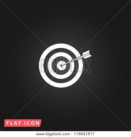 Dart is in the center of dartboard