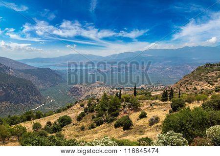 Valley Of Amphissa In Greece
