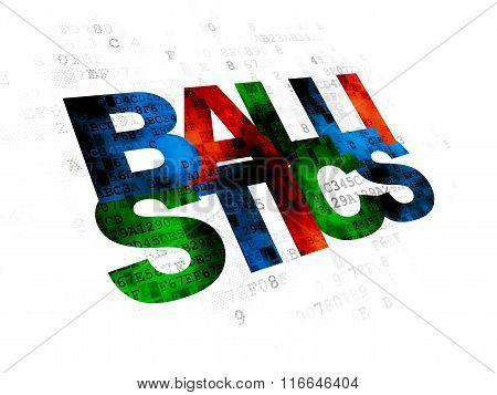 Science concept: Ballistics on Digital background