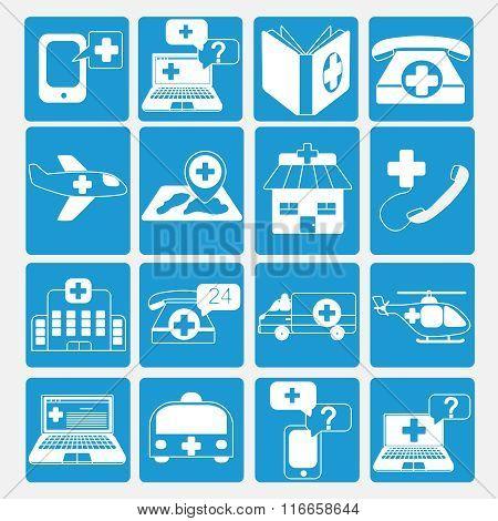 emergency icons set