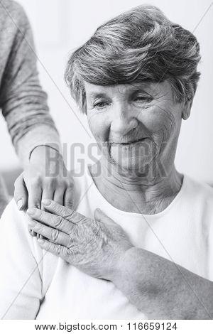 Senior Woman With Schizophrenia