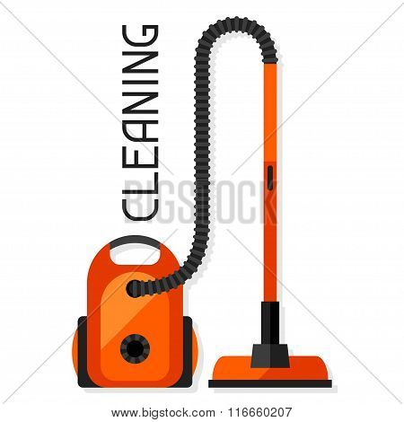 Housekeeping background with vacuum cleaner. Image can be used on advertising booklets, banners, fla