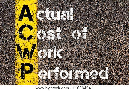 Business Acronym Acwp Actual Cost Of Work Performed