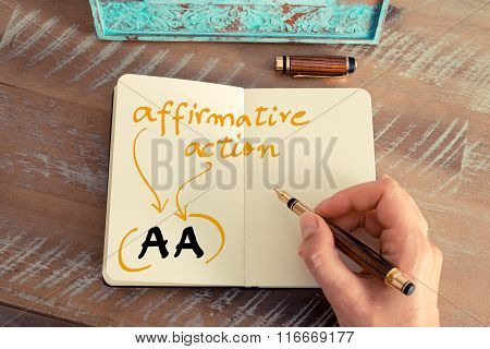 Business Acronym Aa Affirmative Action