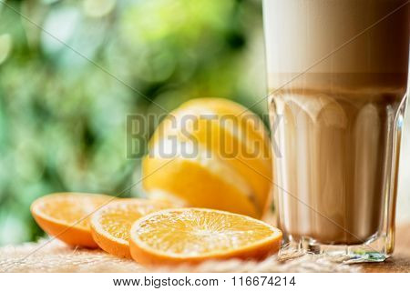 coffee raf with citrus closeup
