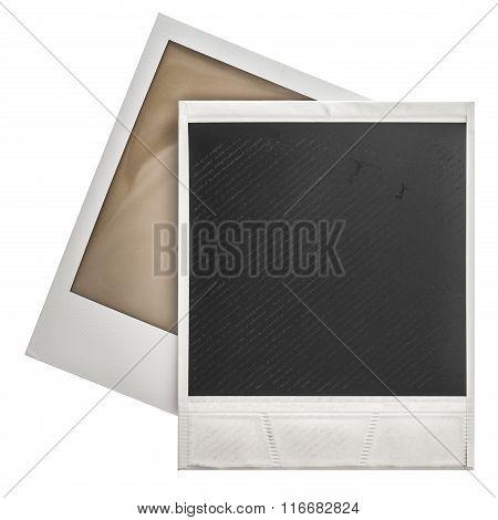Instant Photo Frames Polaroid Isolaten On White