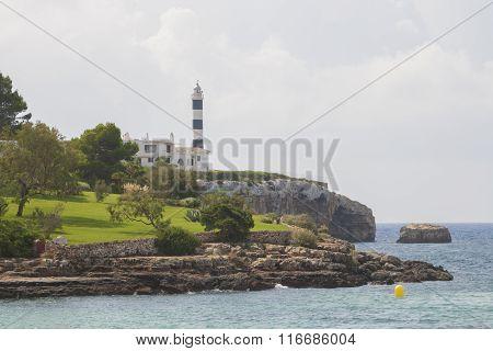 Lighthouse in Portocolom, Majorca