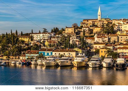 Vrsar Port And Village During Sunset-croatia