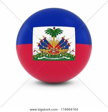 Haitian Flag Ball - Flag Of Haiti On Isolated Sphere