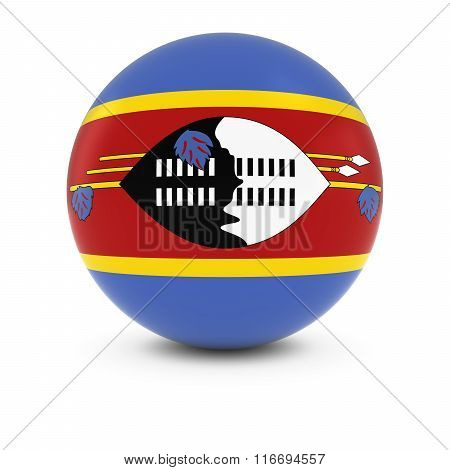 Swazi Flag Ball - Flag Of Swaziland On Isolated Sphere