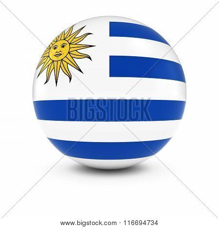 Uruguayan Flag Ball - Flag Of Uruguay On Isolated Sphere