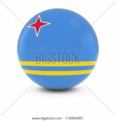 Aruban Flag Ball - Flag Of Aruba On Isolated Sphere
