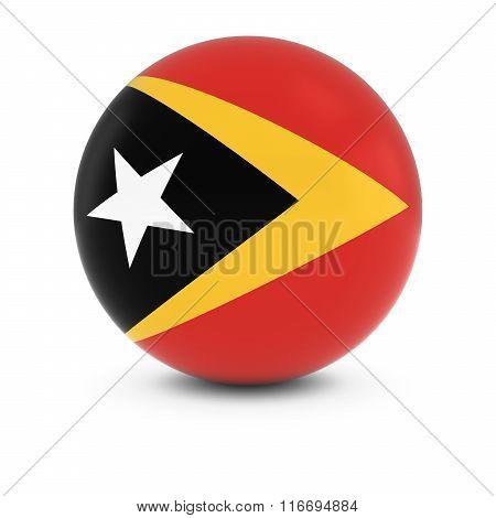 East Timorese Flag Ball - Flag Of East Timor On Isolated Sphere