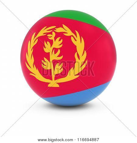 Eritrean Flag Ball - Flag Of Eritrea On Isolated Sphere