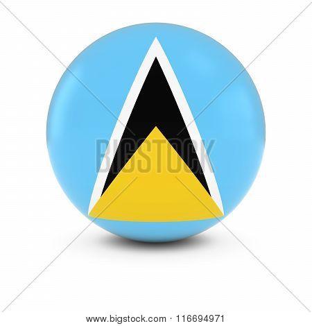 Saint Lucian Flag Ball - Flag Of Saint Lucia On Isolated Sphere