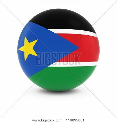 South Sudanese Flag Ball - Flag Of South Sudan On Isolated Sphere