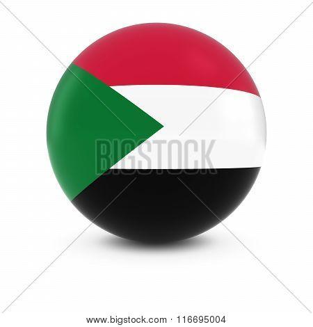 Sudanese Flag Ball - Flag Of Sudan On Isolated Sphere