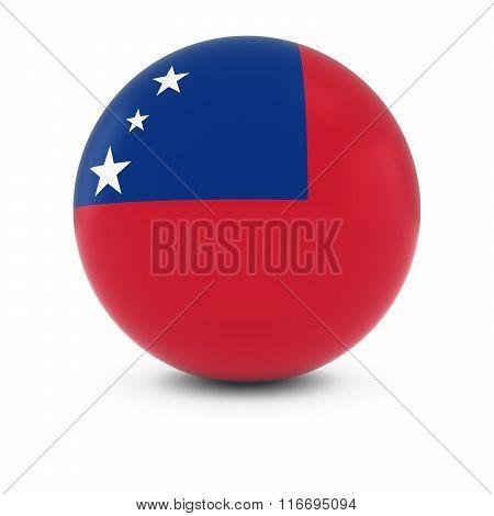 Samoan Flag Ball - Flag Of Samoa On Isolated Sphere