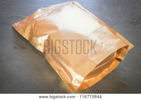 Golden Aluminum Bag Of Premium Coffee Bean