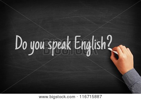 Do You Speak English Language Concept
