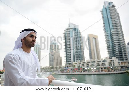 Young and confident Emirati arab man