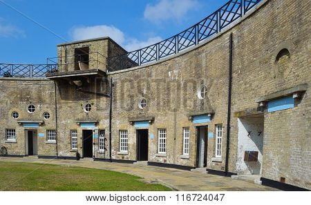 Harwich Redoubt  circular fort Essex England