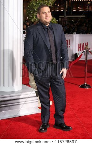 LOS ANGELES - FEB 1:  Jonah Hill at the Hail, Caesar World Premiere at the Village Theater on February 1, 2016 in Westwood, CA