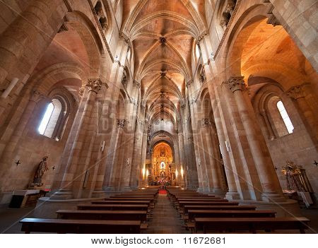Saint Peter's Church Interior In Avila