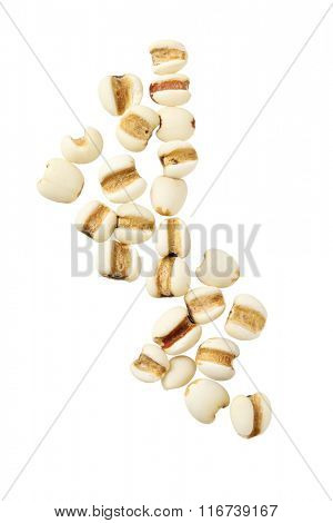 Pearl Barley Grains on White Background